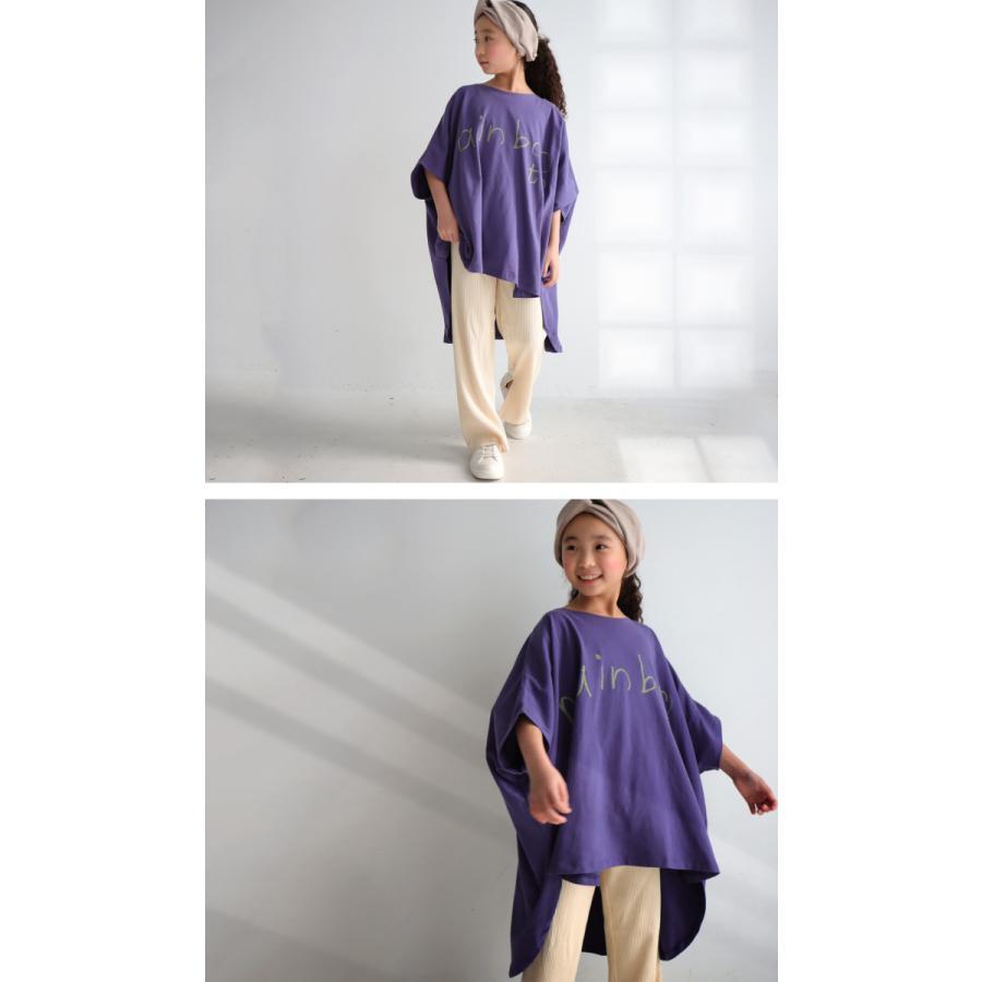 キッズ 子供服 女の子 カットソー 半袖 キッズトップス ワイドロゴT・再再販。100ptメール便可TOY|antiqua|12