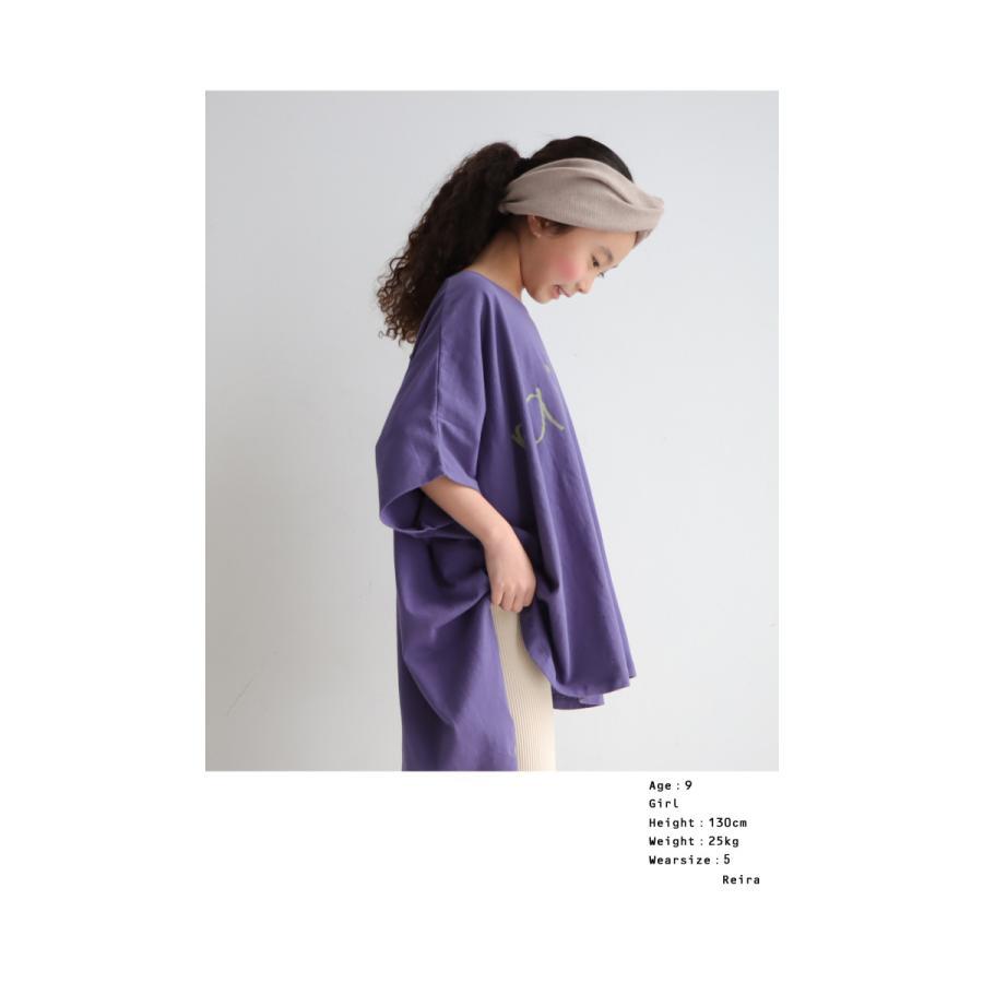 キッズ 子供服 女の子 カットソー 半袖 キッズトップス ワイドロゴT・再再販。100ptメール便可TOY|antiqua|13