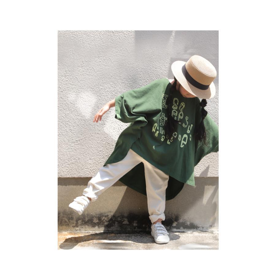 キッズ 子供服 女の子 カットソー 半袖 キッズトップス ワイドロゴT・再再販。100ptメール便可TOY|antiqua|05