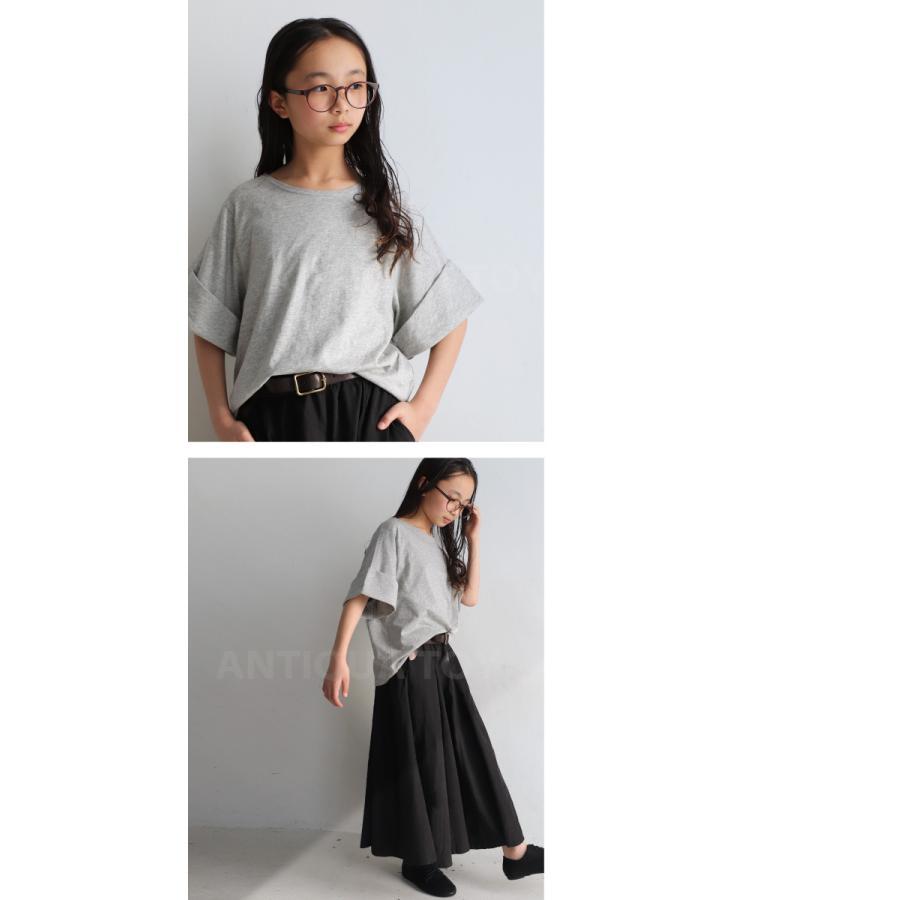 キッズトップス トップス プルオーバー Tシャツ 折返しスリーブデザインTシャツ・再再販。メール便不可TOY|antiqua|09