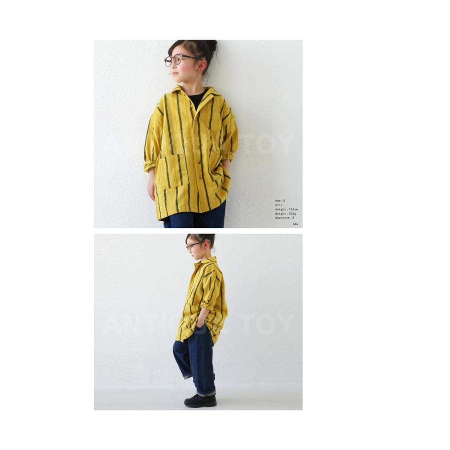 シャツ キッズシャツ シャツジャケット ストライプ キッズ 長袖・メール便不可 TOY antiqua 11