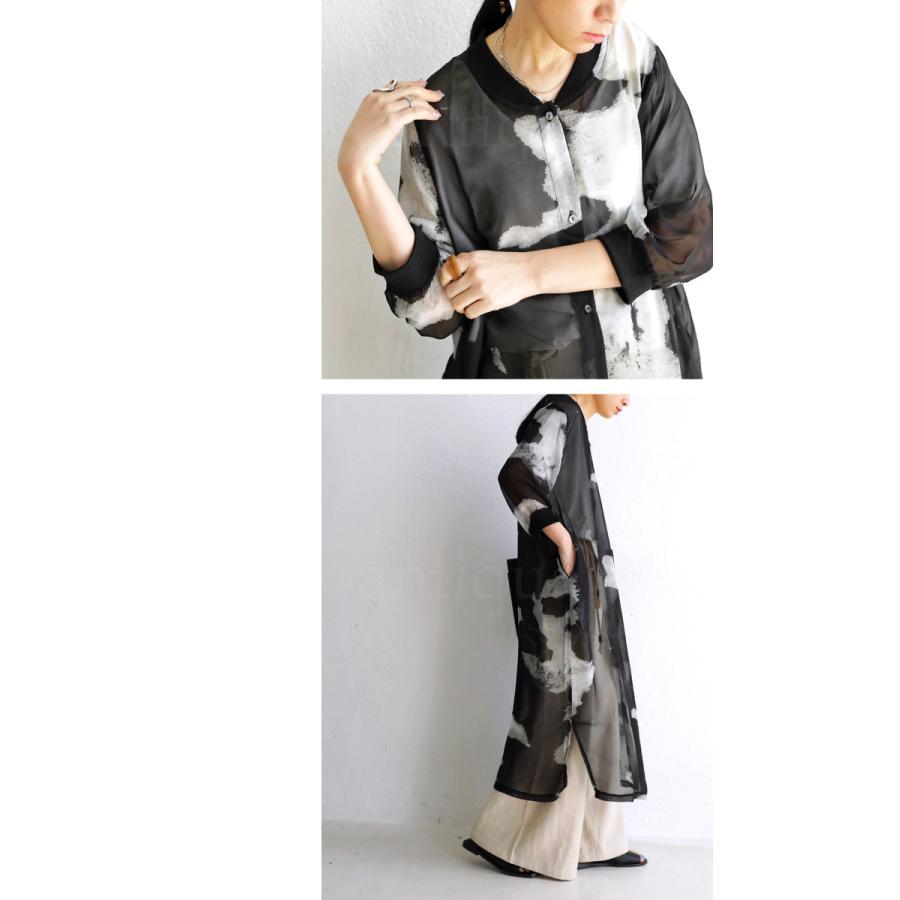 アウター レディース 羽織り 七分袖 花柄 ロング 花柄ロングカーデ・3月5日0時〜再再販。メール便不可 母の日|antiqua|09