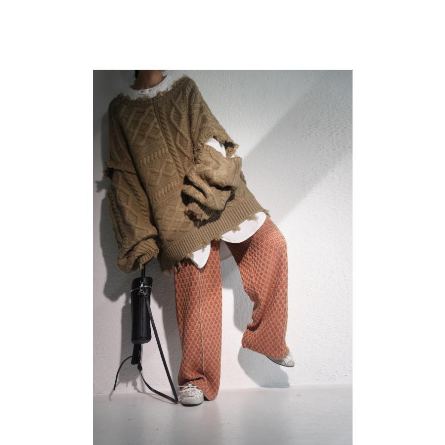 大人気商品!再入荷予定あり(再入荷ボタン登録でメールでお知らせ)ジャガード織ニットパンツ ジャガード織 パンツ 柄 送料無料・再販。メール便不可|antiqua|19