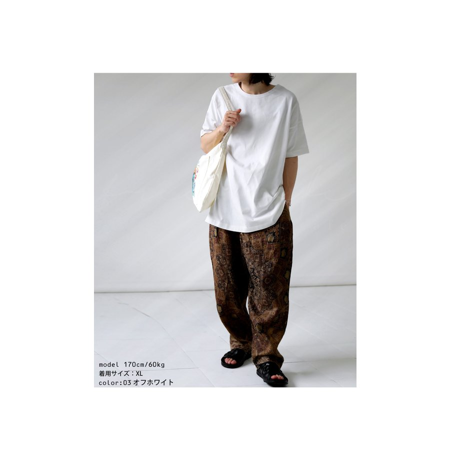 トップス プルオーバー メンズ 五分袖 綿 綿100% バスクTシャツ・3月5日0時〜再再販。メール便不可|antiqua|14