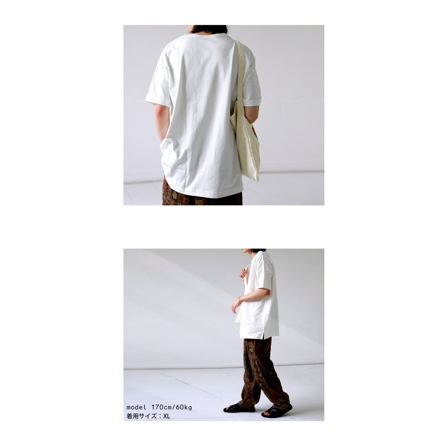 トップス プルオーバー メンズ 五分袖 綿 綿100% バスクTシャツ・3月5日0時〜再再販。メール便不可|antiqua|15