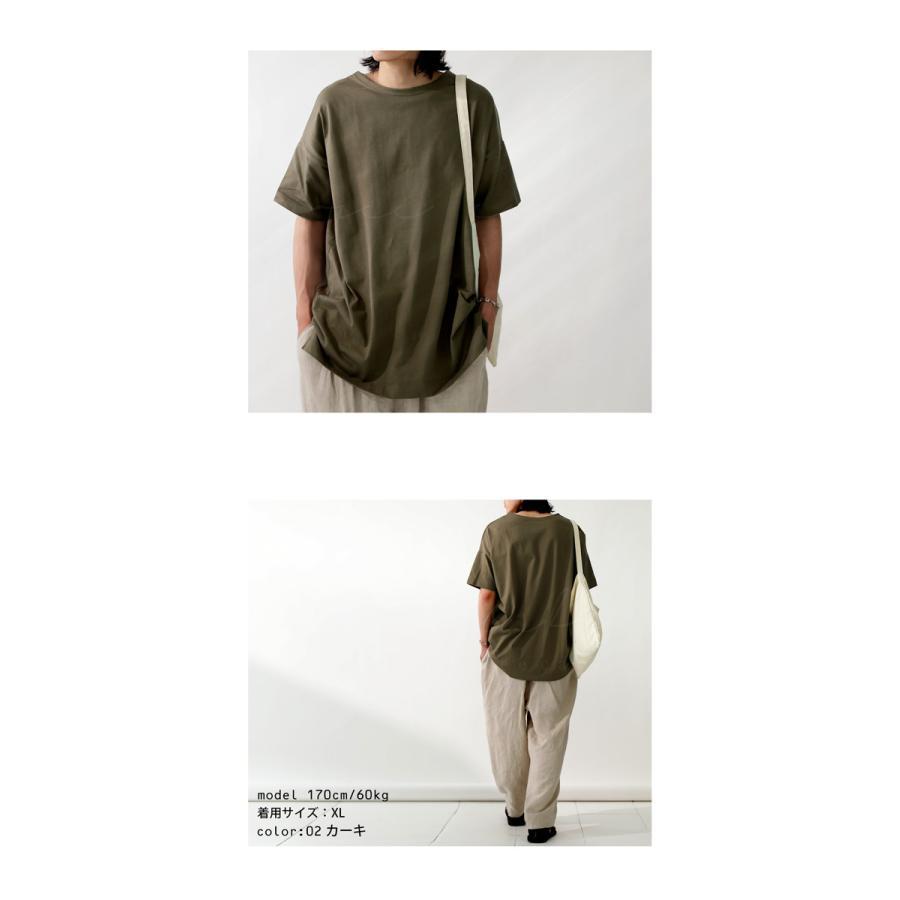 トップス プルオーバー メンズ 五分袖 綿 綿100% バスクTシャツ・3月5日0時〜再再販。メール便不可|antiqua|19