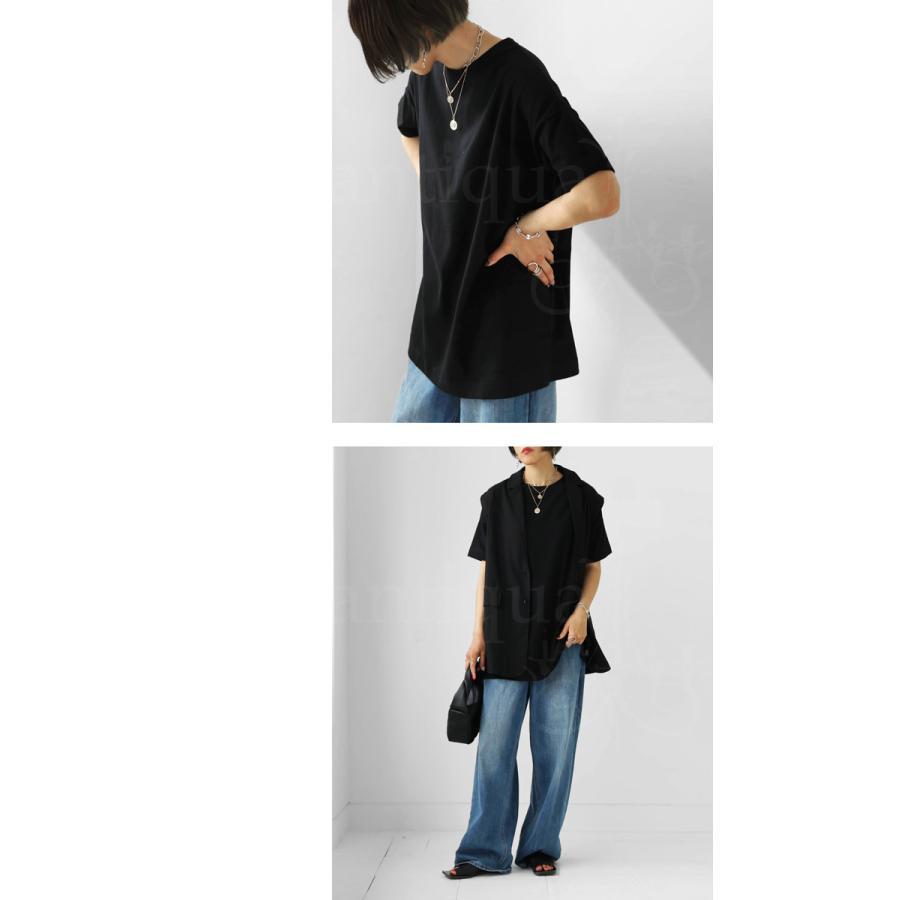 Tシャツ レディース トップス ゆったり プルオーバー 五分袖 綿100% 大きいサイズ・3月5日0時〜再再販。メール便不可 母の日|antiqua|18
