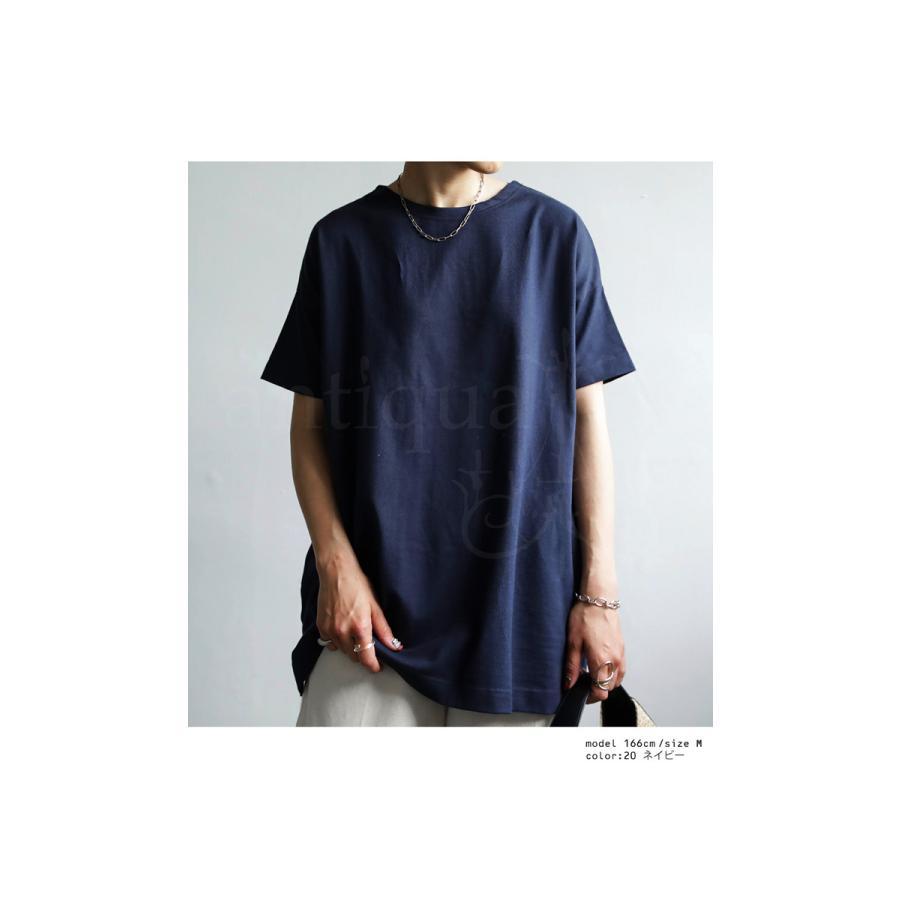 Tシャツ レディース トップス ゆったり プルオーバー 五分袖 綿100% 大きいサイズ・3月5日0時〜再再販。メール便不可 母の日|antiqua|20