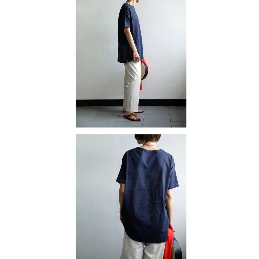Tシャツ レディース トップス ゆったり プルオーバー 五分袖 綿100% 大きいサイズ・3月5日0時〜再再販。メール便不可 母の日|antiqua|21