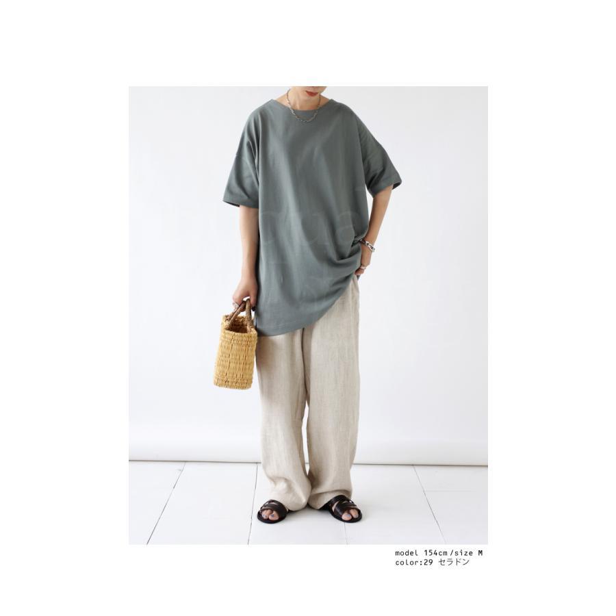 Tシャツ レディース トップス ゆったり プルオーバー 五分袖 綿100% 大きいサイズ・3月5日0時〜再再販。メール便不可 母の日|antiqua|09