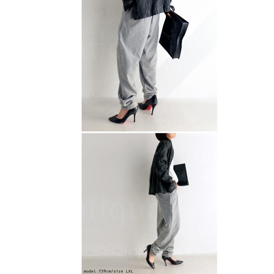 裏毛パンツ パンツ レディース ボトムス 綿100 裏毛 無地・9月24日10時〜再再販。メール便不可|antiqua|12