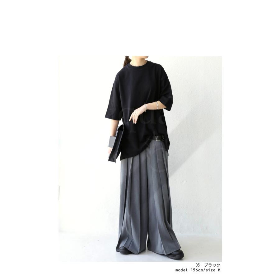 ビッグシルエット Tシャツ レディース バスクT 綿100・9月19日10時〜再再販。メール便不可|antiqua|18