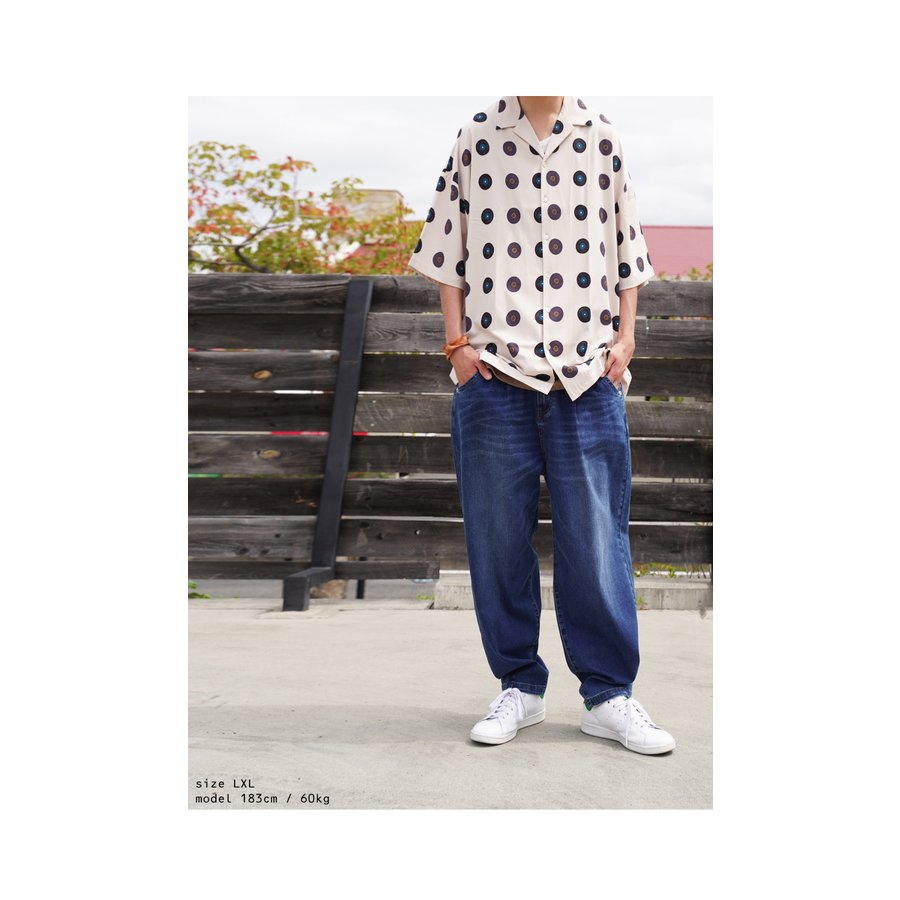 レコード柄開襟シャツ シャツ メンズ トップス 柄 送料無料・4月20日0時〜発売。メール便不可【MENS】|antiqua|14