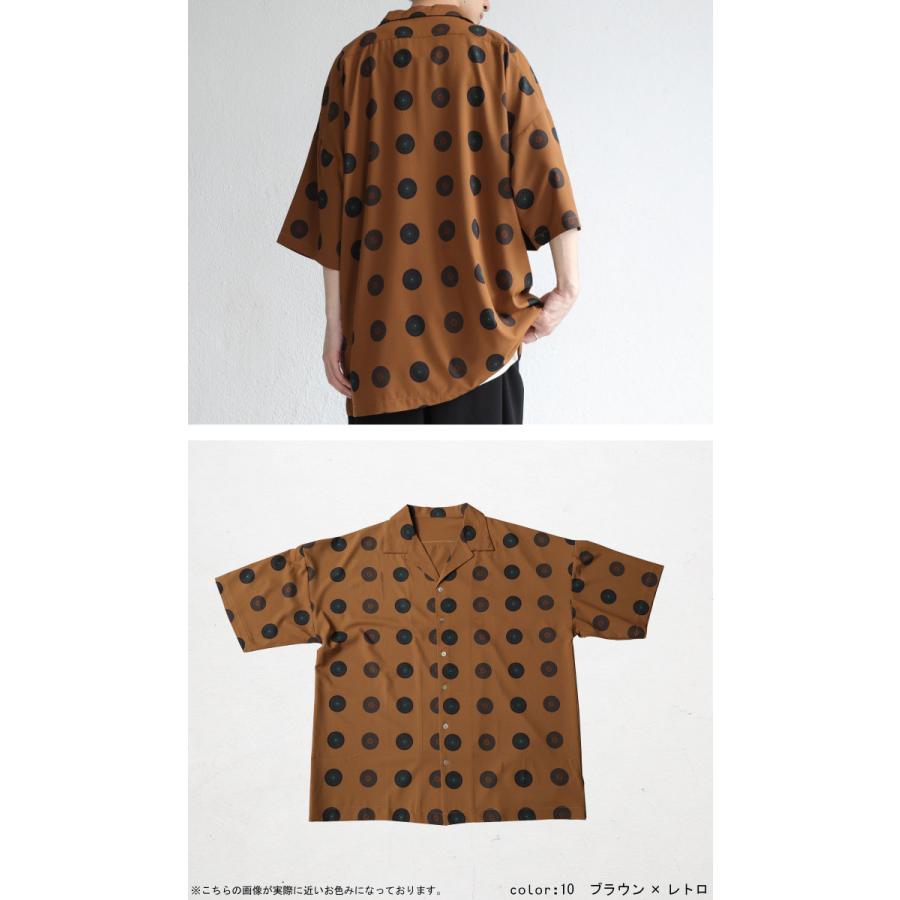 レコード柄開襟シャツ シャツ メンズ トップス 柄 送料無料・4月20日0時〜発売。メール便不可【MENS】|antiqua|18