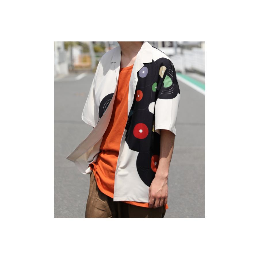 レコード柄開襟シャツ シャツ メンズ トップス 柄 送料無料・4月20日0時〜発売。メール便不可【MENS】|antiqua|19