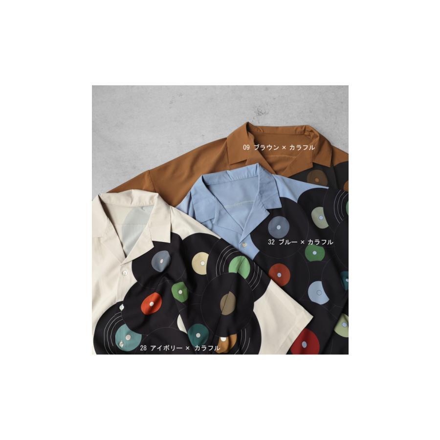 レコード柄開襟シャツ シャツ メンズ トップス 柄 送料無料・4月20日0時〜発売。メール便不可【MENS】|antiqua|03