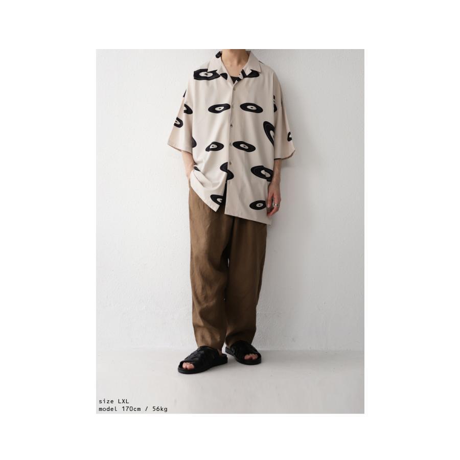 レコード柄開襟シャツ シャツ メンズ トップス 柄 送料無料・4月20日0時〜発売。メール便不可【MENS】|antiqua|05