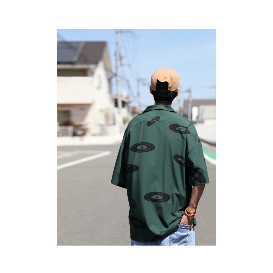 レコード柄開襟シャツ シャツ メンズ トップス 柄 送料無料・4月20日0時〜発売。メール便不可【MENS】|antiqua|09