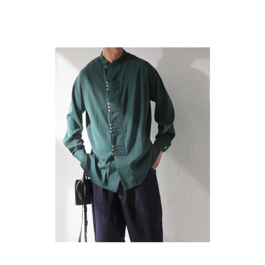 デザインボタンシャツ シャツ メンズ トップス 送料無料・9月4日10時〜発売。メール便不可|antiqua|15