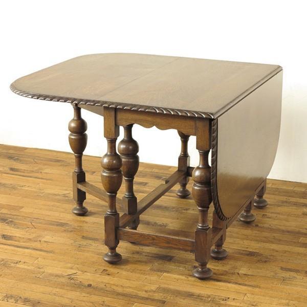 ゲートレッグテーブル 51904 折りたためる機能的なテーブル☆バタフライテーブル 天板ふちの装飾もステキ 1920年頃イギリスアンティーク家具 ゲートレッグテーブル 51904 折りたためる機能的なテーブル☆バタフライテーブル 天板ふちの装飾もステキ 1920年頃イギリスアンティーク家具