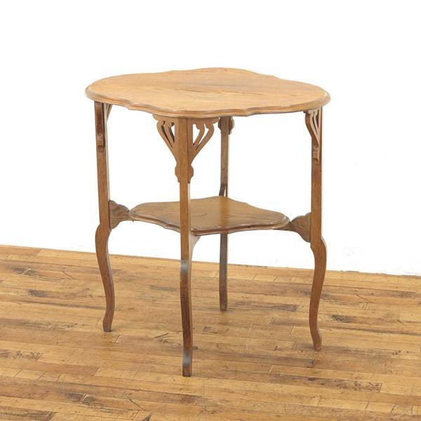 サイドテーブル 上品な雰囲気 エレガントなデザイン アーツアンドクラフト ティーテーブル ディスプレイ台 1910年頃イギリスアンティーク家具 54539