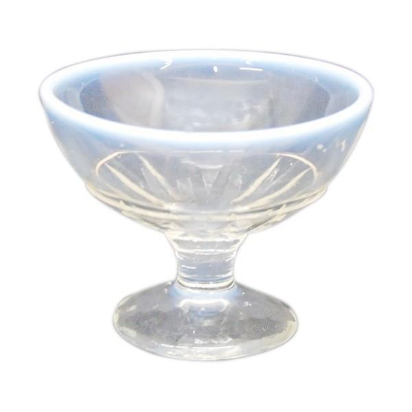 氷コップ 昭和レトロ デッドストック 乳白色(淵の部分) antiquesjikoh