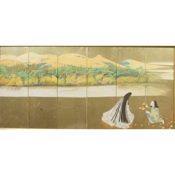 森田沙伊 日本画 横額 タトウ付 絵画 額装|antiquesjikoh|02