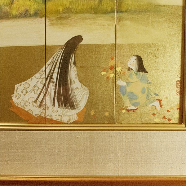 森田沙伊 日本画 横額 タトウ付 絵画 額装|antiquesjikoh|05