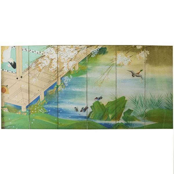 森田沙伊 日本画 横額 タトウ付 antiquesjikoh 02