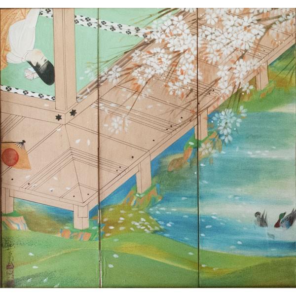 森田沙伊 日本画 横額 タトウ付 antiquesjikoh 03
