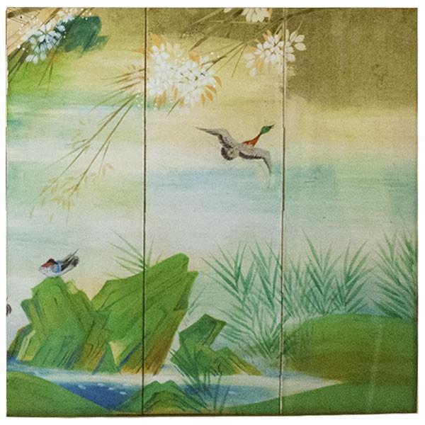 森田沙伊 日本画 横額 タトウ付 antiquesjikoh 04