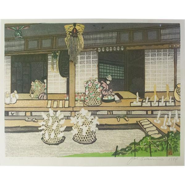 関野準一郎 木版画 「三春」 51/128 直筆サイン|antiquesjikoh|02