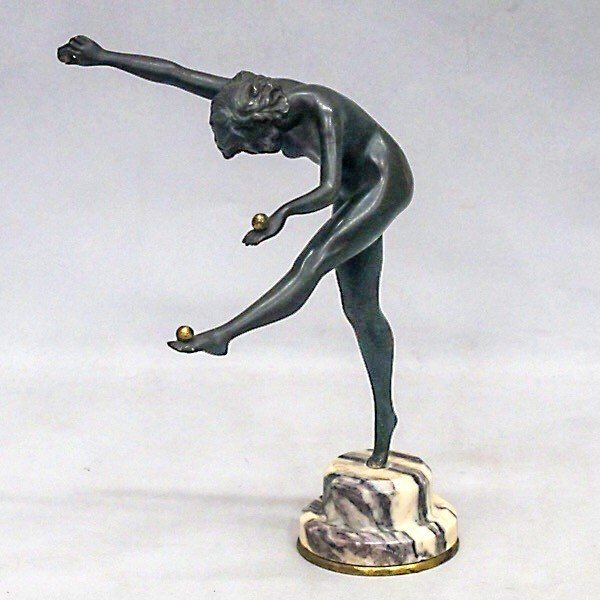 CL.J.R.COLINET(クレアジーン・ロバーツ・コリネット)「juggler」1925年 ブロンズ像 antiquesjikoh 03