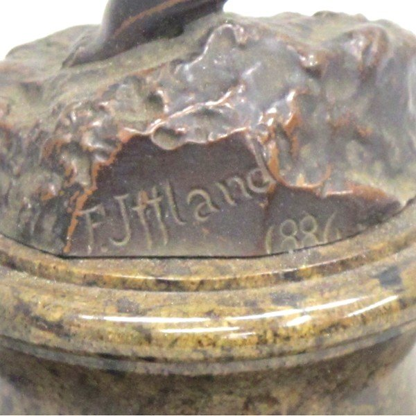 Franz Iffland フランツ・イフランド (独1862〜1935) ブロンズ像 1886年製 antiquesjikoh 05