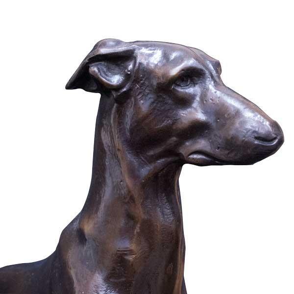 エドモンド・マソン Clovis Edmond Masson「グレイハウンド」 ブロンズ像 彫刻 antiquesjikoh 04