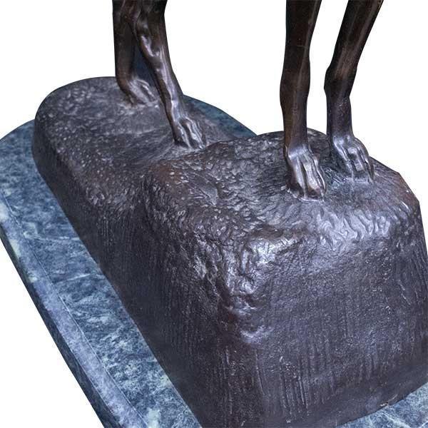 エドモンド・マソン Clovis Edmond Masson「グレイハウンド」 ブロンズ像 彫刻 antiquesjikoh 05
