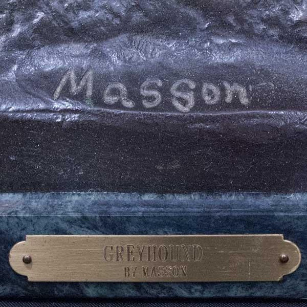 エドモンド・マソン Clovis Edmond Masson「グレイハウンド」 ブロンズ像 彫刻 antiquesjikoh 06