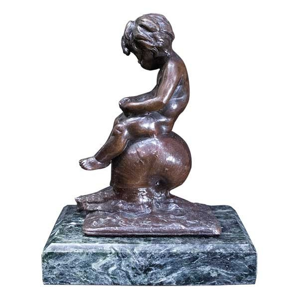 L.Kley 「カタツムリに乗る少年」ブロンズ像|antiquesjikoh|02