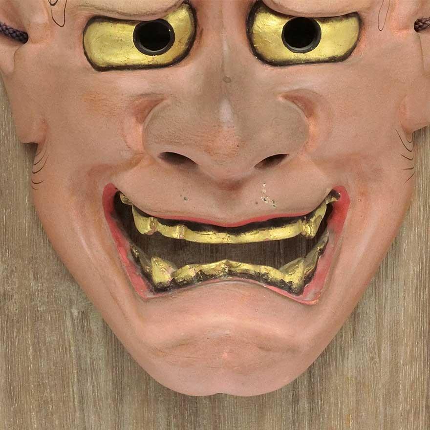 羽生光長 「般若」 能面 木彫 彫刻 狂言 能楽|antiquesjikoh|05