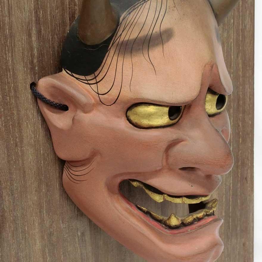 羽生光長 「般若」 能面 木彫 彫刻 狂言 能楽|antiquesjikoh|06