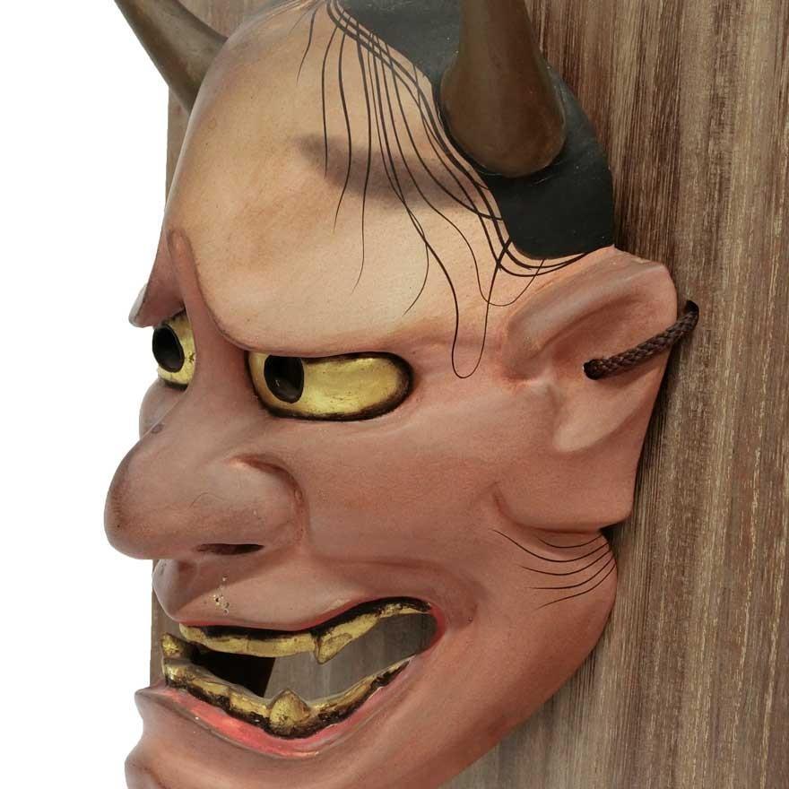 羽生光長 「般若」 能面 木彫 彫刻 狂言 能楽|antiquesjikoh|07