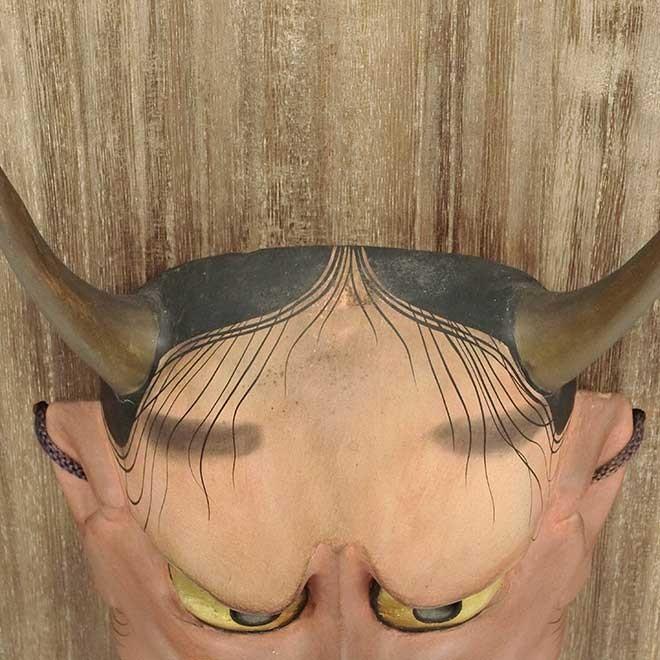 羽生光長 「般若」 能面 木彫 彫刻 狂言 能楽|antiquesjikoh|08