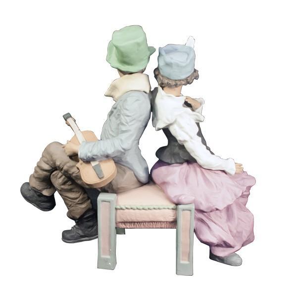 LLADRO リヤドロ 椅子に座る男と女像  SAN ISIDRO |antiquesjikoh|02