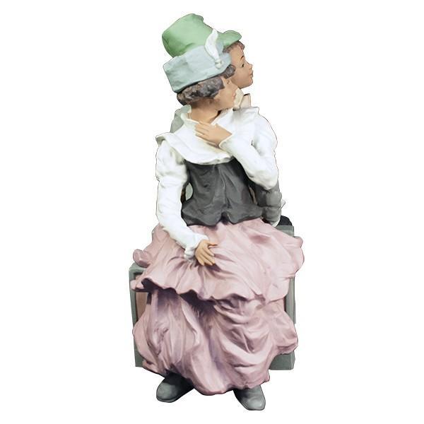 LLADRO リヤドロ 椅子に座る男と女像  SAN ISIDRO |antiquesjikoh|03