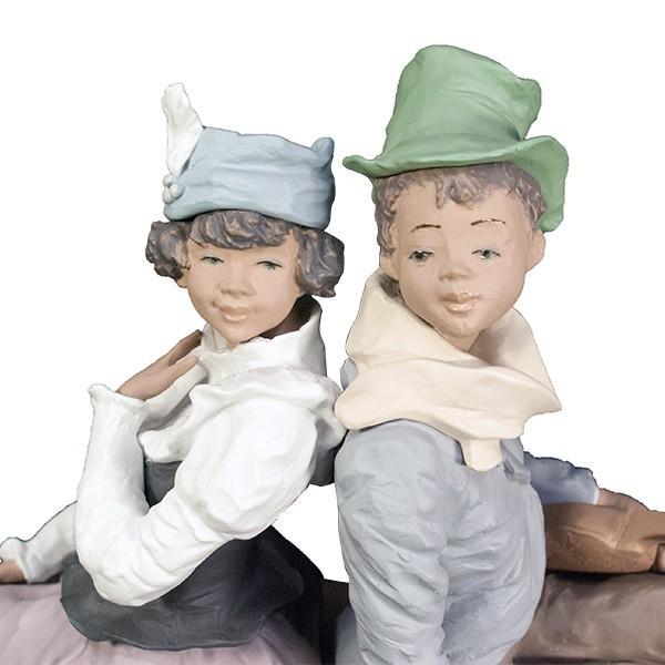 LLADRO リヤドロ 椅子に座る男と女像  SAN ISIDRO |antiquesjikoh|05