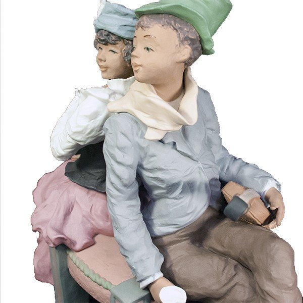 LLADRO リヤドロ 椅子に座る男と女像  SAN ISIDRO |antiquesjikoh|06