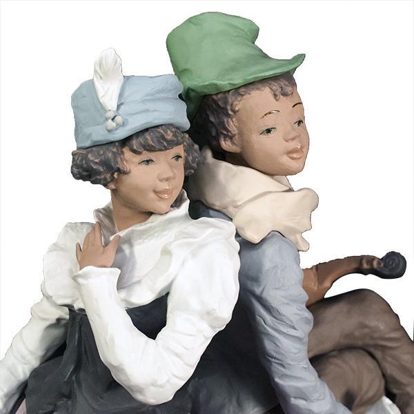 LLADRO リヤドロ 椅子に座る男と女像  SAN ISIDRO |antiquesjikoh|07