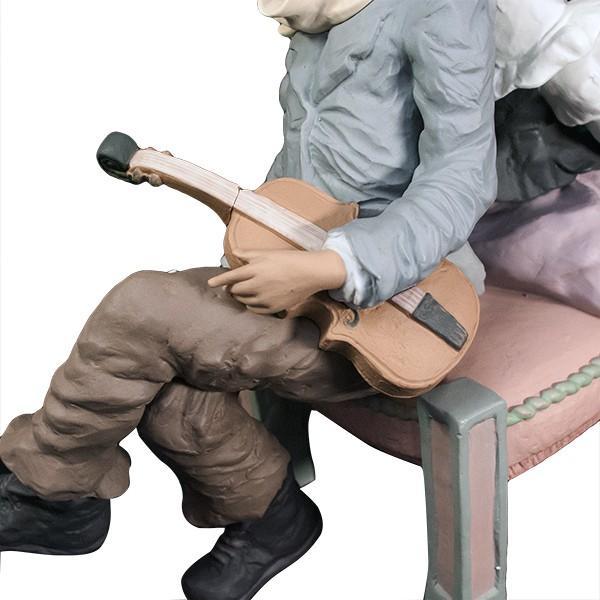 LLADRO リヤドロ 椅子に座る男と女像  SAN ISIDRO |antiquesjikoh|08