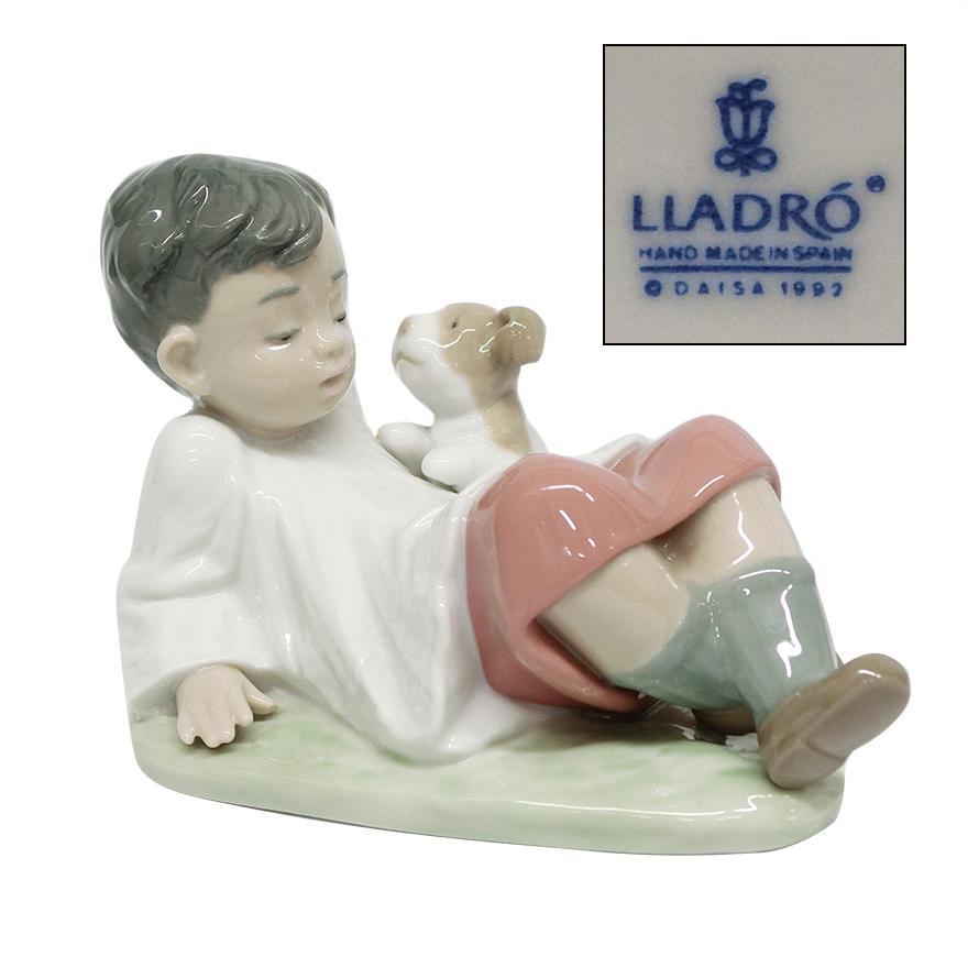リヤドロ(lladro)「MONAGUILLO CON PERRITO/TAKING TIME」5988 フィギュリン t-122|antiquesjikoh
