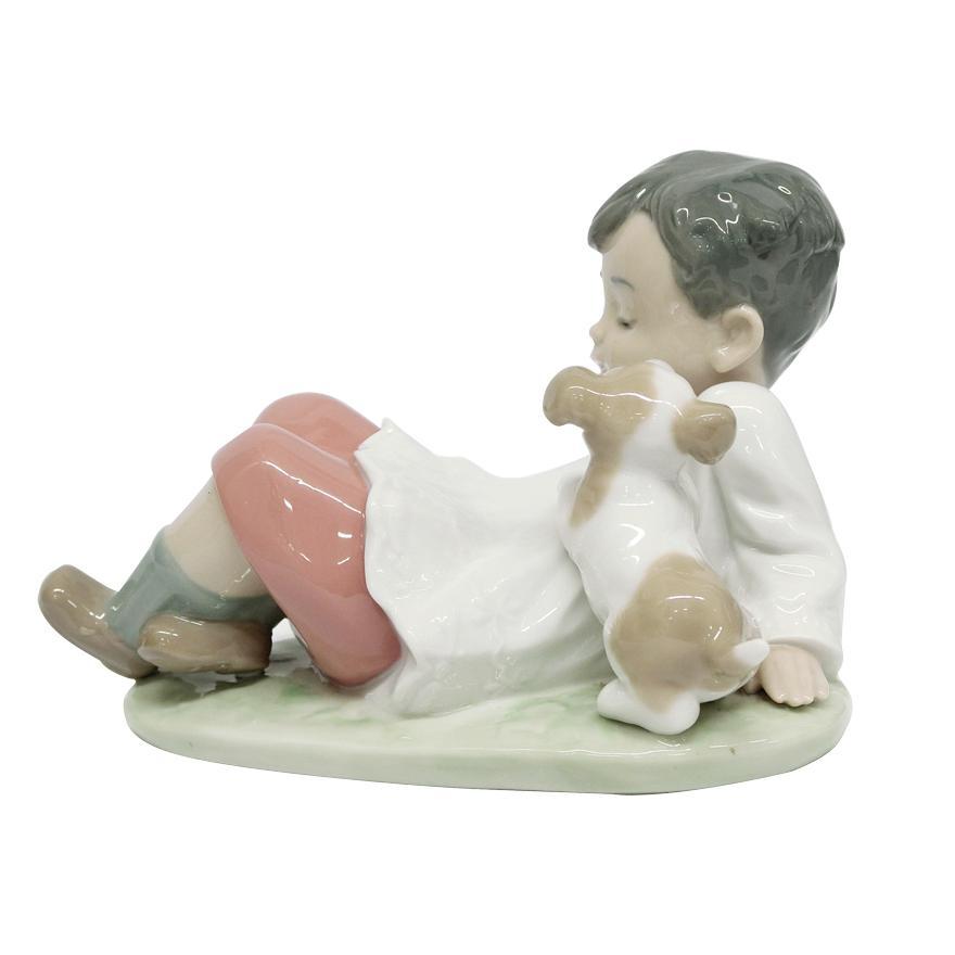 リヤドロ(lladro)「MONAGUILLO CON PERRITO/TAKING TIME」5988 フィギュリン t-122|antiquesjikoh|05